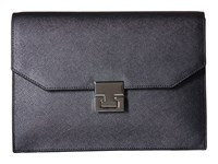 Ivanka Trump Hopewell Clutch Gunmetal Clutch Handbags Gray