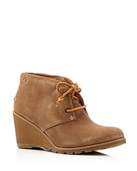 Sperry Stella Desert Wedge Booties Taupe