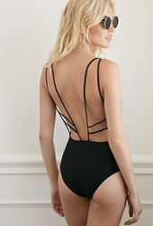 Forever 21 Strappy Open Back One Piece Black