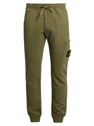 Stone Island Slim Fit Cotton Track Pants Light Green