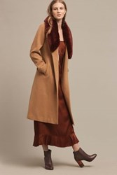 Anthropologie Collared Sienna Coat Honey