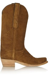 Finds Lucchese Romia Suede Western Boots Brown