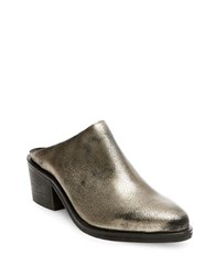 Steve Madden Faleen Leather Mules Gold