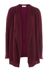 Velvet Draped Cashmere Cardigan Purple
