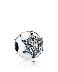 Pandora Design Charm Sterling Silver Cubic Zirconia And Glass Snowflake Moments Collection