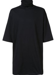 Barbara I Gongini Loose Turtleneck T Shirt Black