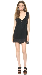 Re Named Ruffle Sleeve Romper Black