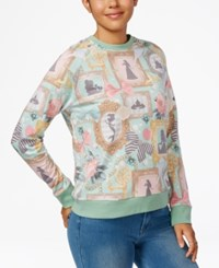 Mighty Fine Disney Juniors' Princesses Graphic Sweatshirt Mint