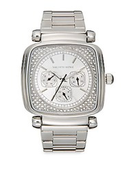 Saks Fifth Avenue Square Stainless Steel Bracelet Watch