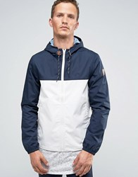 Element Alder Two Tones Hooded Rain Jacket White