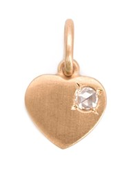 Irene Neuwirth 18Kt Rose Gold Heart Pendant Metallic