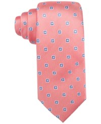 Countess Mara Men's Flower Neat Classic Tie Coral