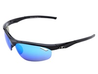 Tifosi Optics Veloce Mirrored Interchangeable Gloss Black Clarion Blue Ac Red Clear Lens Athletic Performance Sport Sunglasses