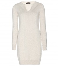 Loro Piana Winterland Cashmere Sweater Dress Neutrals