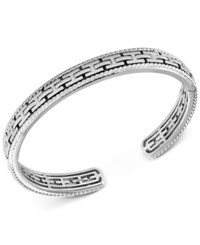 Effy Men's Chain Look Textured Cuff Bracelet In Sterling Silver