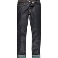 River Island Mens Dark Blue Wash Dylan Slim Jeans