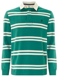 Joules Woodall Stripe Rugby Shirt College Green