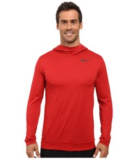 Nike Dry Training Hoodie Night Maroon Gym Red Black Men's Clothing Brown