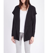 The White Company Hooded Wool And Cashmere Blend Cardigan Darkcharcmarl
