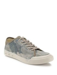 Rag And Bone Camouflage Low Top Sneakers Beige Camo