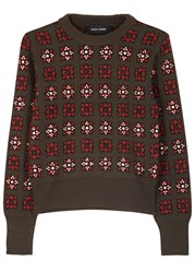 Each X Other Brown Intarsia Wool Blend Jumper