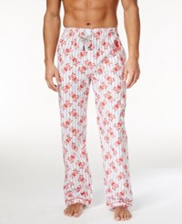 Psycho Bunny Men's Woven Graphic Print Logo Pajama Pants Blue Bell