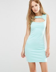 Pussycat London Shift Dress With Cut Out Detail Mint Green