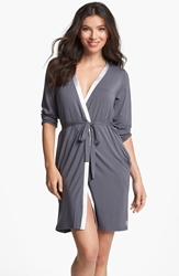 Calvin Klein 'Essentials' Short Robe Charcoal Silverstone
