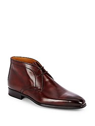 Magnanni Patent Leather Lace Up Shoes Midbrown
