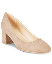 Wanted Amelia Block Heel Pumps Women's Shoes Taupe