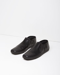 Lemaire Leather Slip On Shoes Black