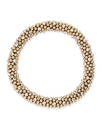 Meredith Frederick Beth 14 Karat Gold And Silver Bead Bracelet