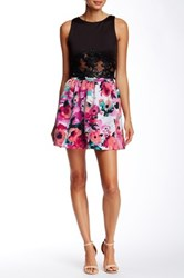 Necessary Objects Full Floral Skirt Red