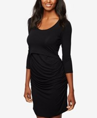 A Pea In The Pod Tiered Nursing Dress Black