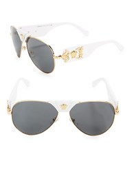 Versace 62Mm Aviator Sunglasses Ve2150q White