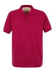 Racing Green Francis Jacquard Spot Polo Shirt Dark Pink