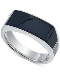 Esquire Men's Jewelry Onyx 24 X 8 X 3Mm Ring In Sterling Silver First At Macy's Black