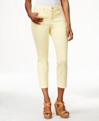 Charter Club Petite Cropped Colored Jeans Only At Macy's Lemon Tart