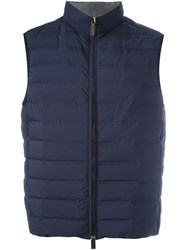 Canali Padded Gilet Blue