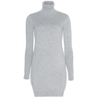 Loro Piana Glace Cashmere Sweater Dress Grey
