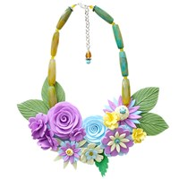Sara Amrhein Firenze Multicolor Flower Statement Necklace