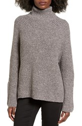 Women's Bp. Mock Neck Sweater Grey Medium Charcoal Heather
