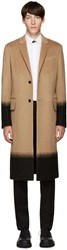 Valentino Tan Camel Needlepoint Coat