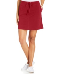 Karen Scott Sport A Line Knit Skort New Red Amore