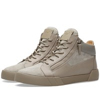 Giuseppe Zanotti Double Zip Basket Cut Sneaker Grey