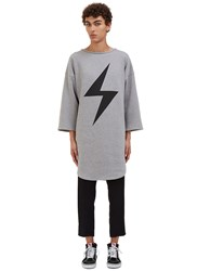 Von Sono Oversized Lightning Bolt Sweater Grey