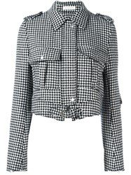 J.W.Anderson Houndstooth Cropped Jacket Black