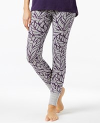 Alfani Printed Pajama Leggings Only At Macy's Grey Leaves