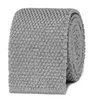 Tom Ford Knitted Silk Tie Gray