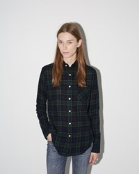 R 13 Slim Boy Shirt Navy Plaid 3